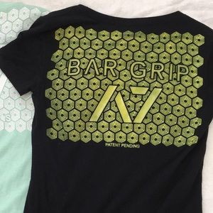 A7 Bar Grip black and neon yellow T-shirt